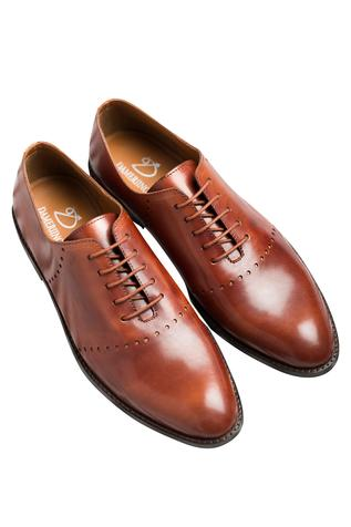 Brown Oxfords with block heels