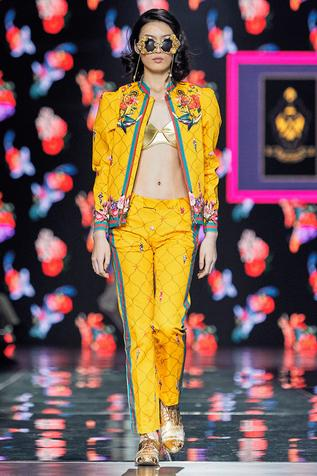Printed yellow Trousers