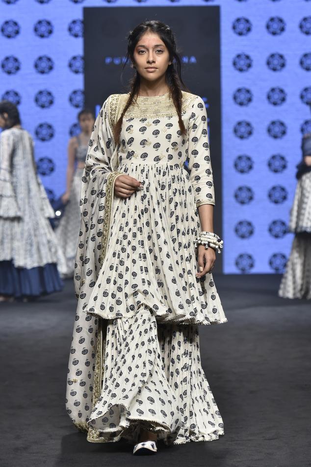 Embroidered Anarkali & Sharara Set