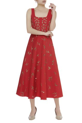 Cutwork Midi Dress