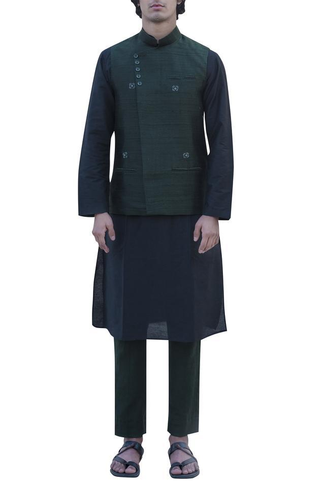 Overlap Nehru Jacket