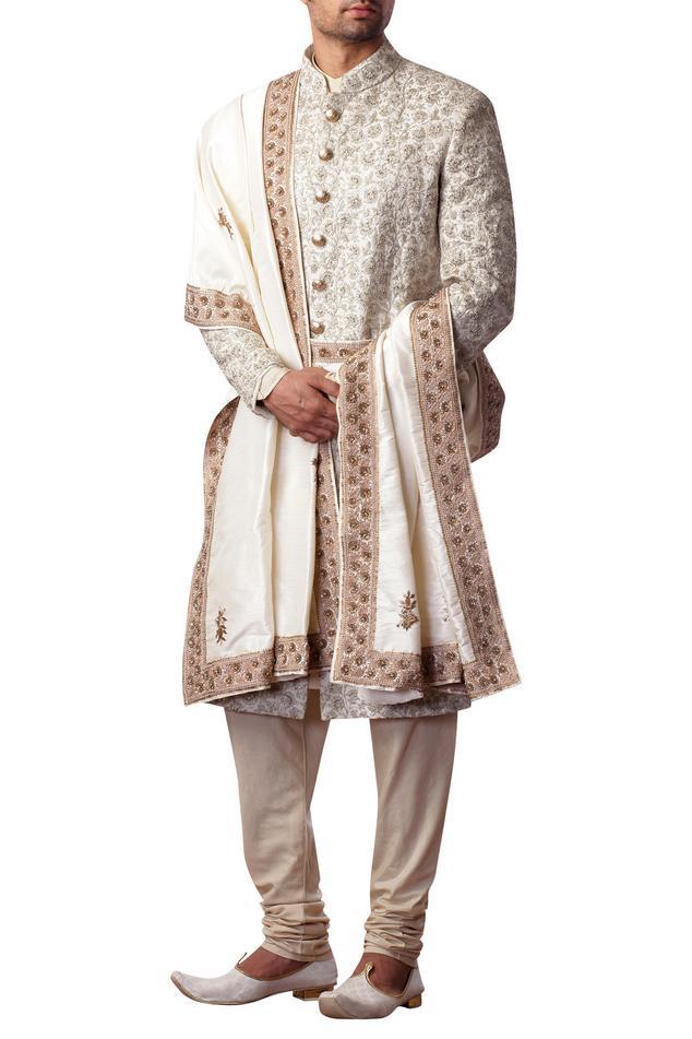 Embroidered sherwani set
