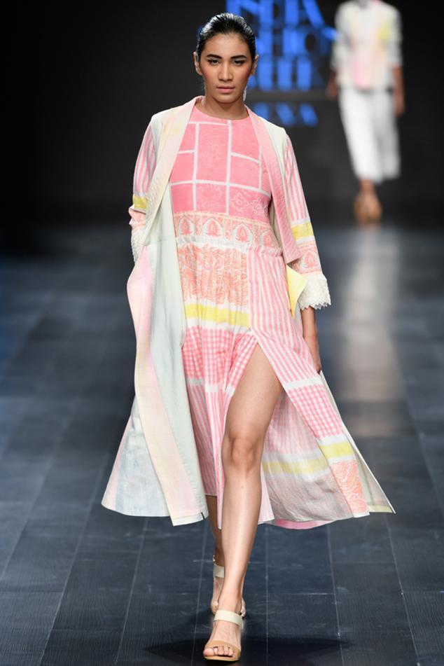 Thigh High Slit Printed Dress