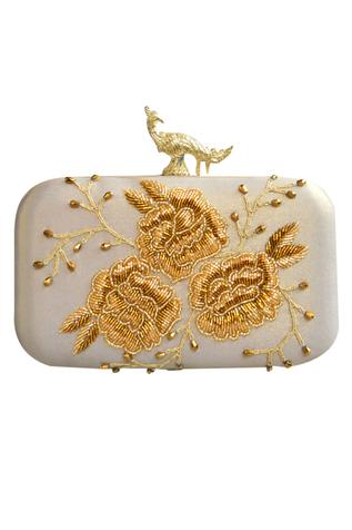 Peacock Clasp Clutch