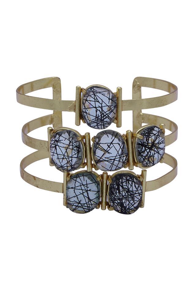 Stone studded cuff bracelet