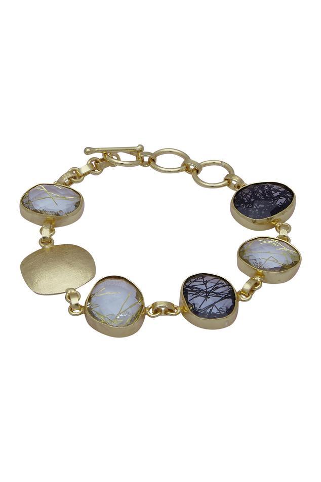 Stone studded chain bracelet