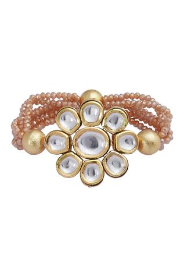 Floral kundan bracelet