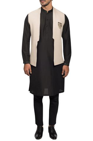 Cotton Silk Bundi & Kurta Set