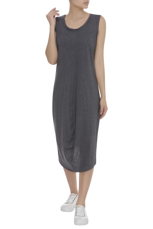 Cowl draped dress