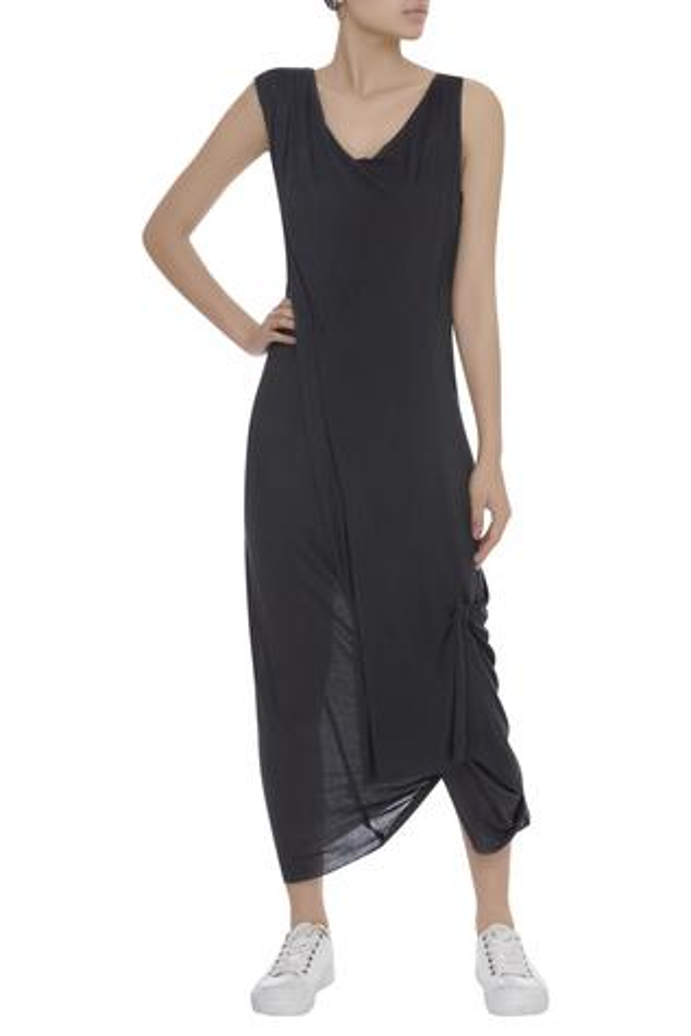 Draped layered dress