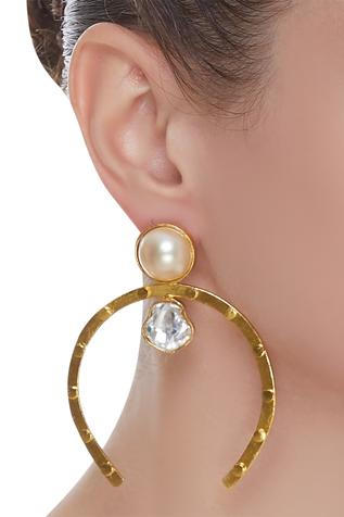 Bead & crystal earrings