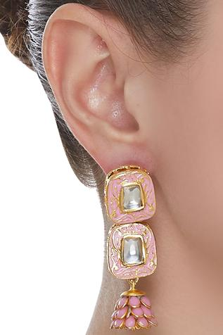 Jadtar Meenakari Earrings