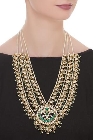 Jadtar Triple Layer Necklace