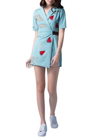 Embroidered Playsuit