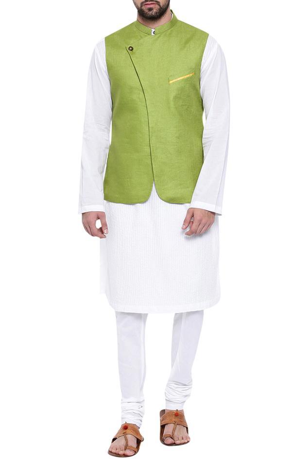 Mandarin collar nehru jacket