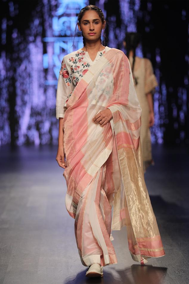 Maheshwari Silk Saree with Top