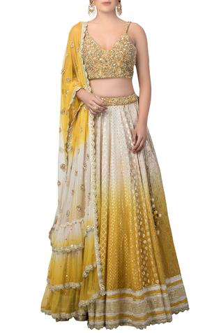 Printed & embroidered lehenga set