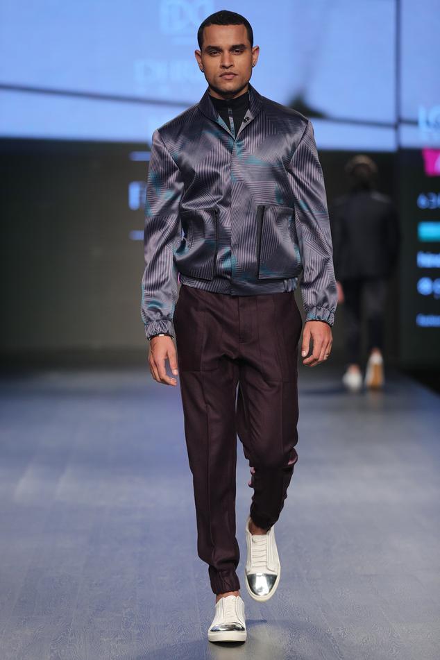 Printed jacket with shirt & pant