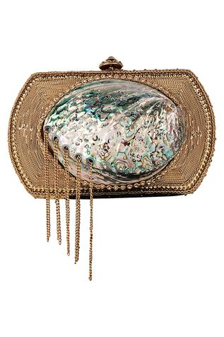 Metal Chain Detail Clutch