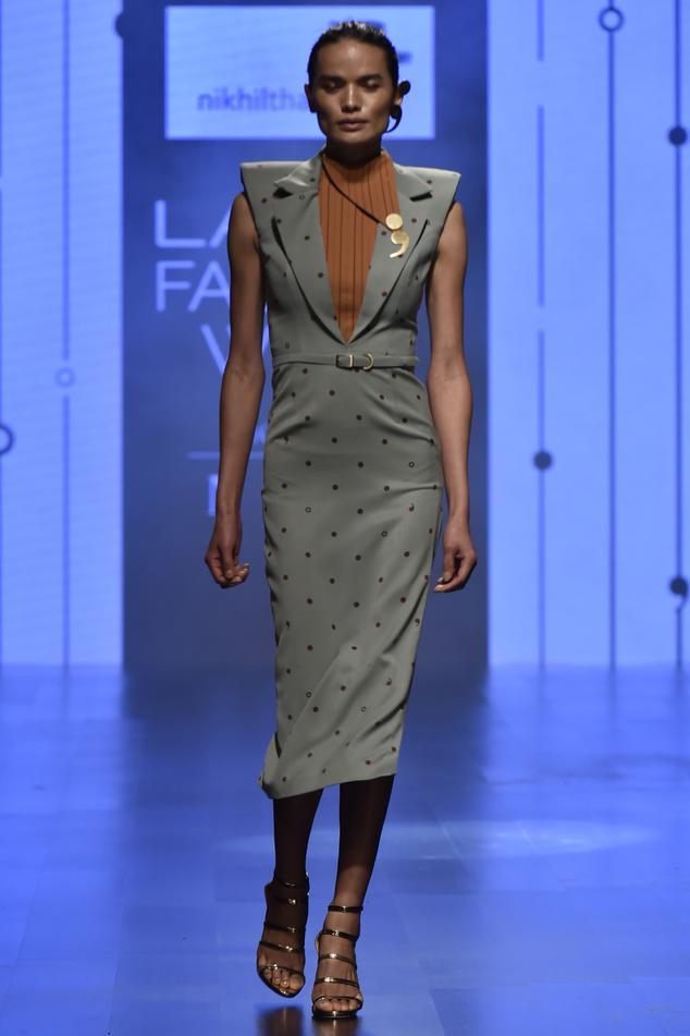Lapel Collar Midi Dress