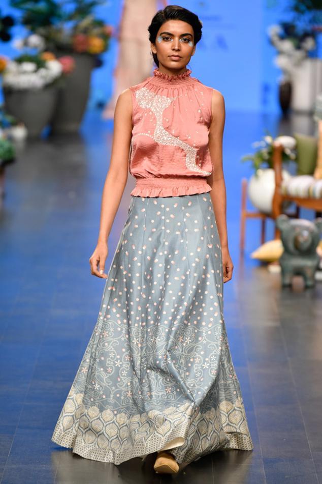 Chanderi Skirt Set