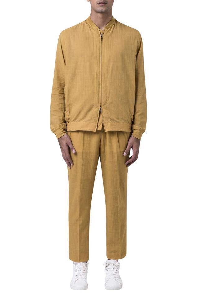 Cotton mul bomber jacket