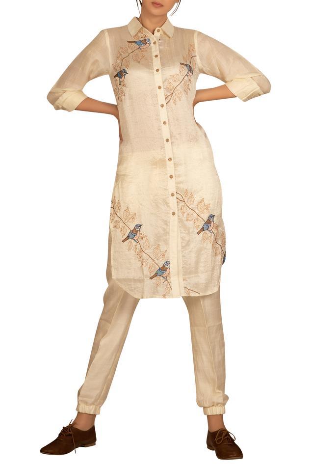 Embroidered shirt kurta