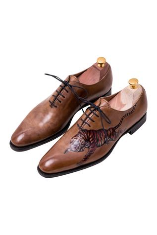 Painted Oxford Shoes