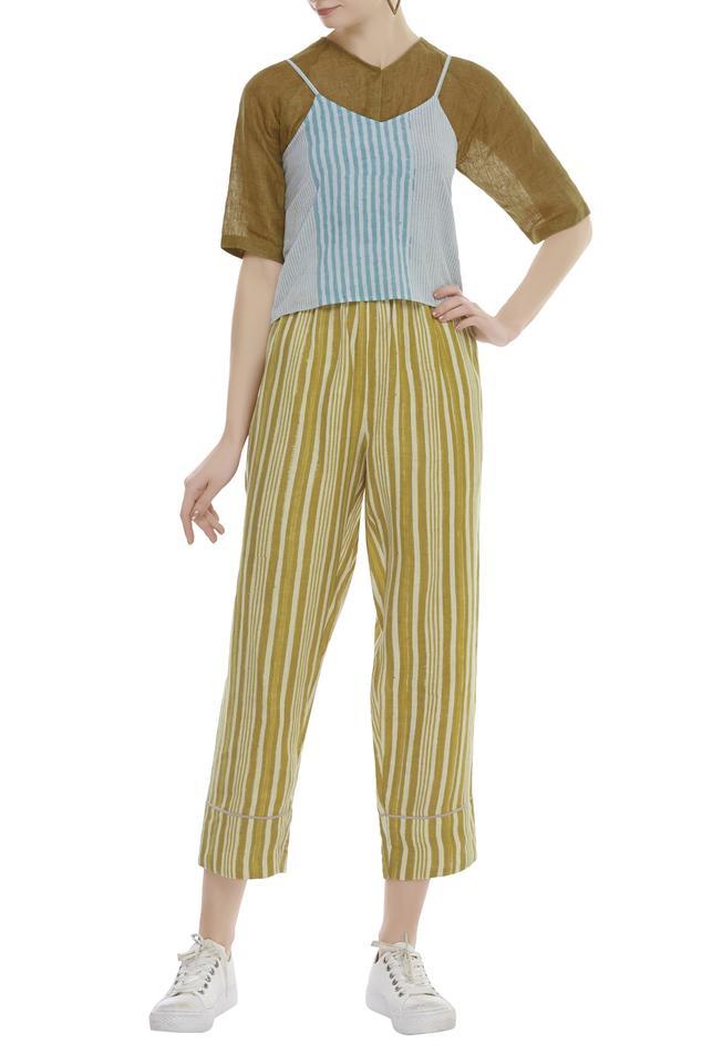 Cotton Striped Trouser