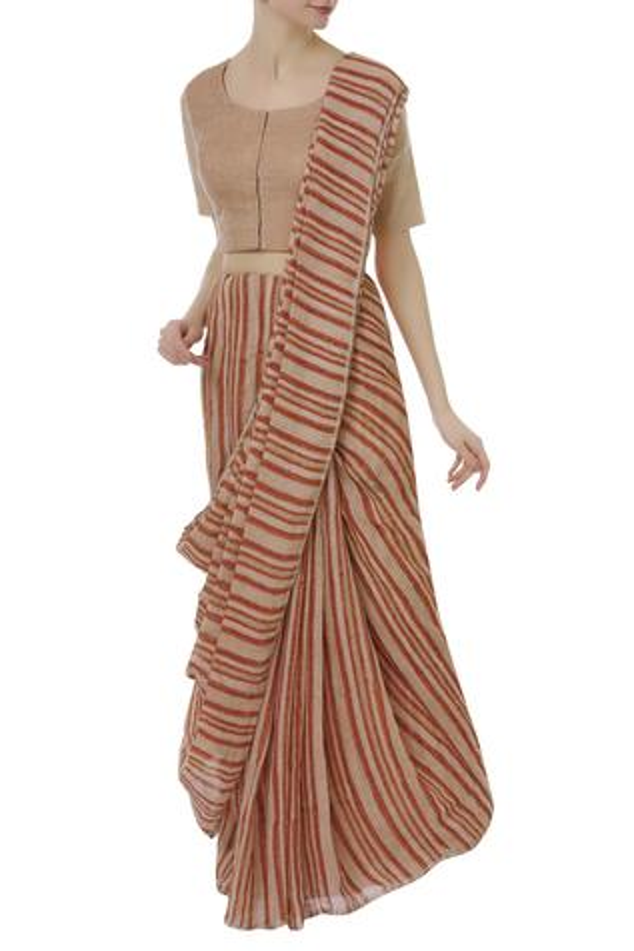 Linen Striped Saree