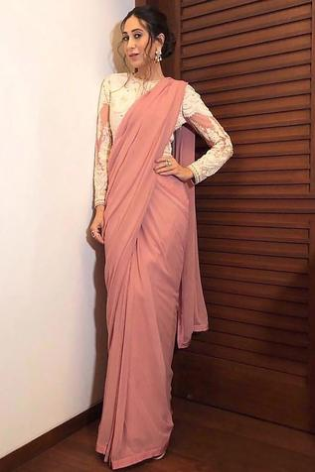 Pre Draped Saree Gown