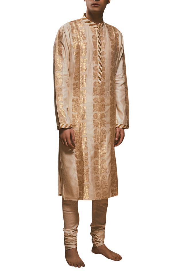 Chanderi printed kurta set