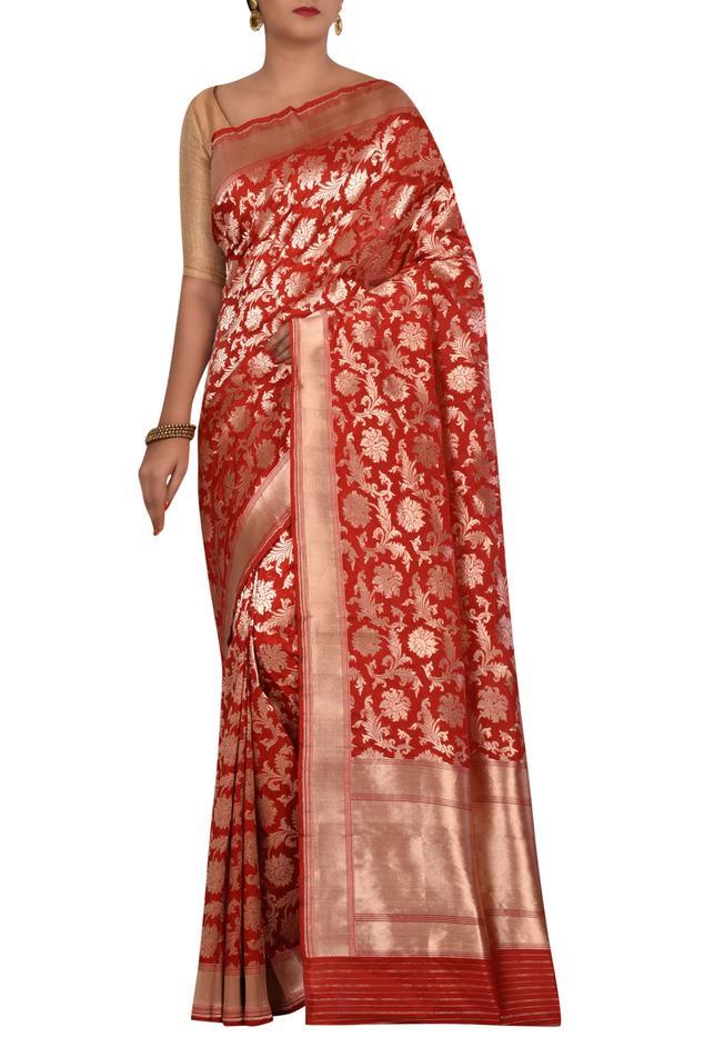 Handloom Pure Banarasi silk saree with running blouse