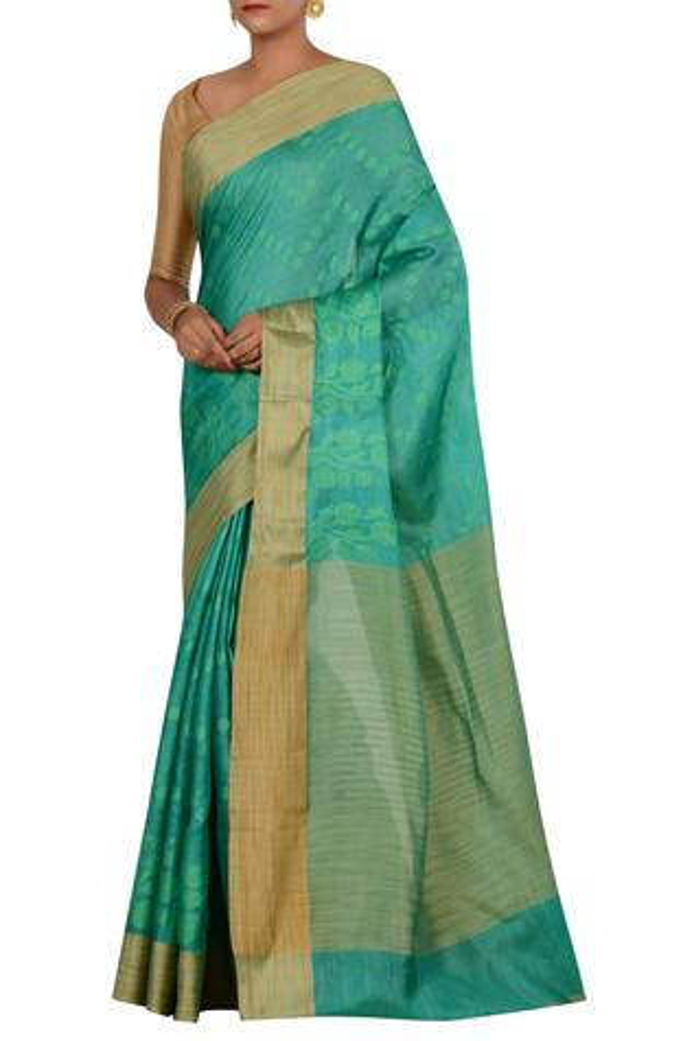 Pure Banarasi tussar silk saree with running blouse