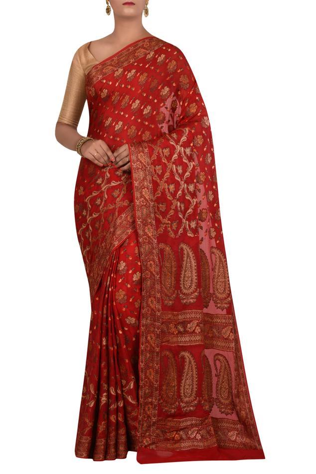 Pure Banarasi Cotton Georgette Silk with running blouse