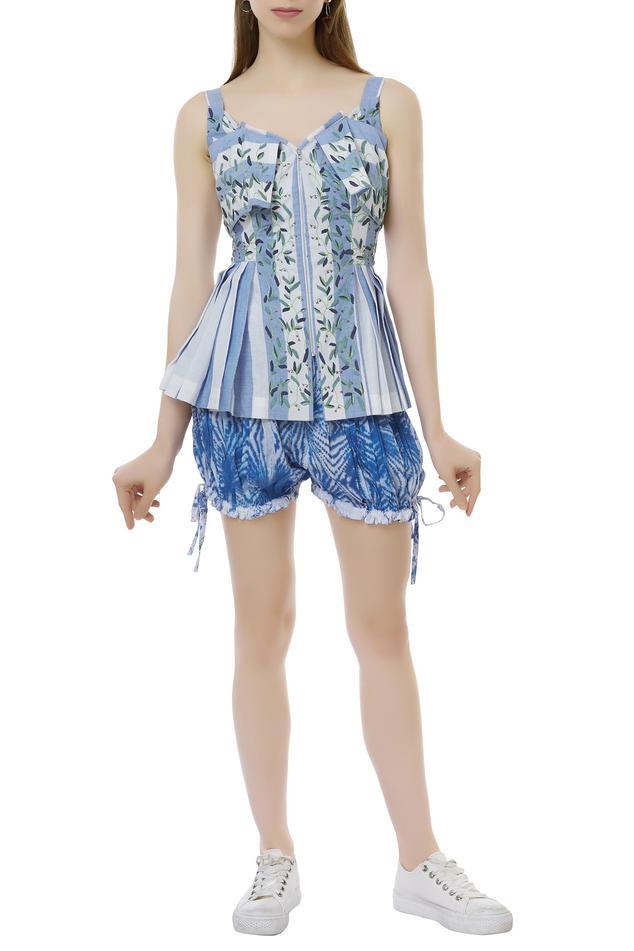 Shibori Dye top & shorts Set