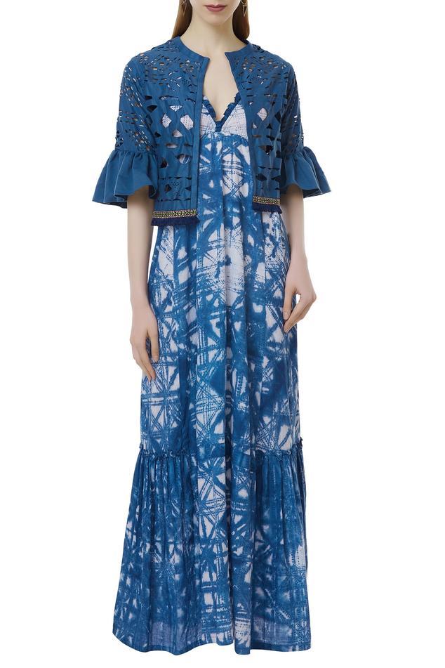 Shibori Dress with Jacket