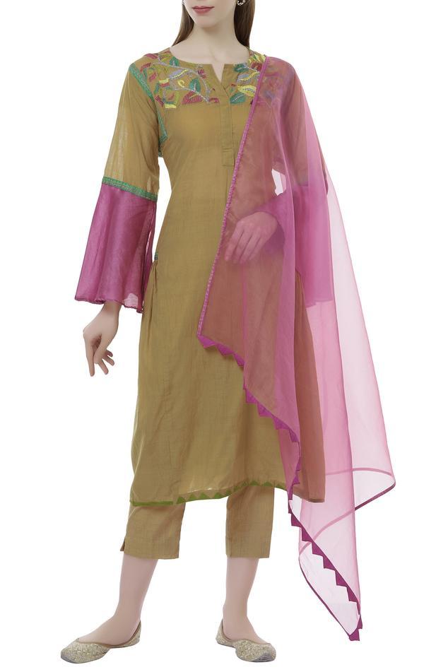 Handwoven Chanderi Kurta & Pant Set
