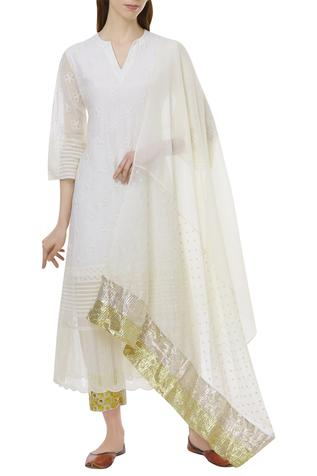 Chanderi Cotton Kurta Set