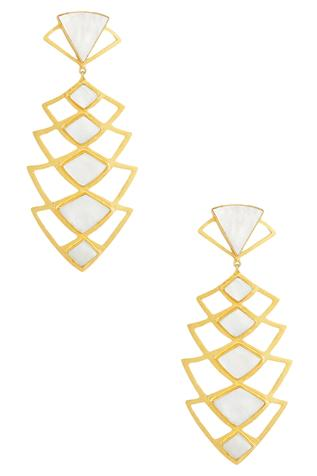 Stone geometric earrings