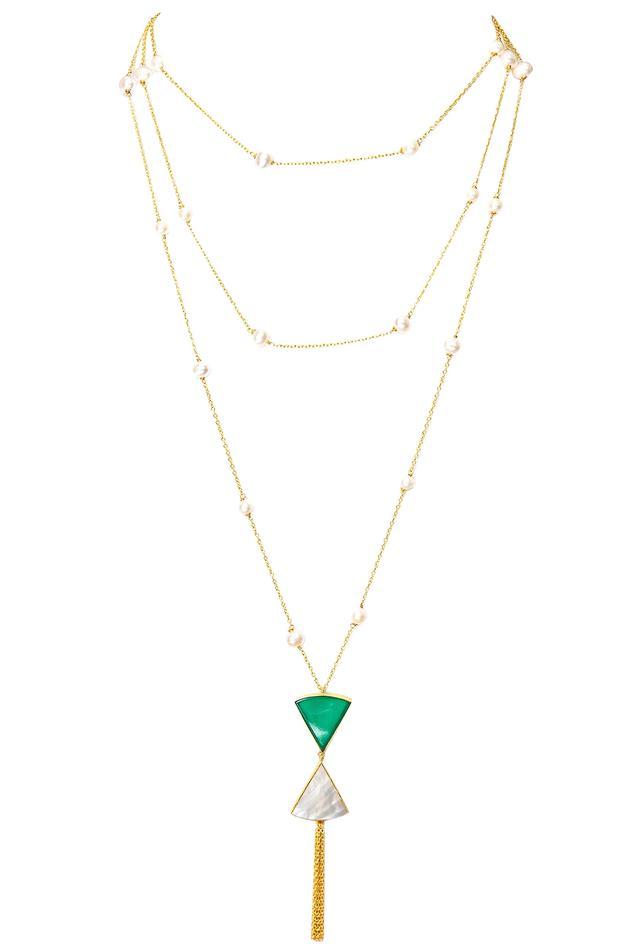 Layered stone necklace