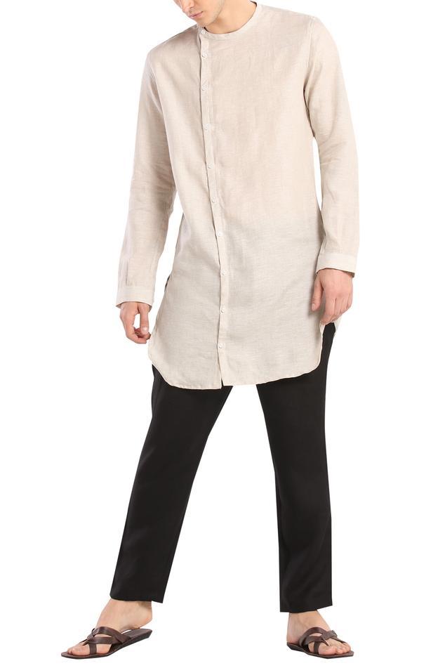 Linen cuff sleeves kurta