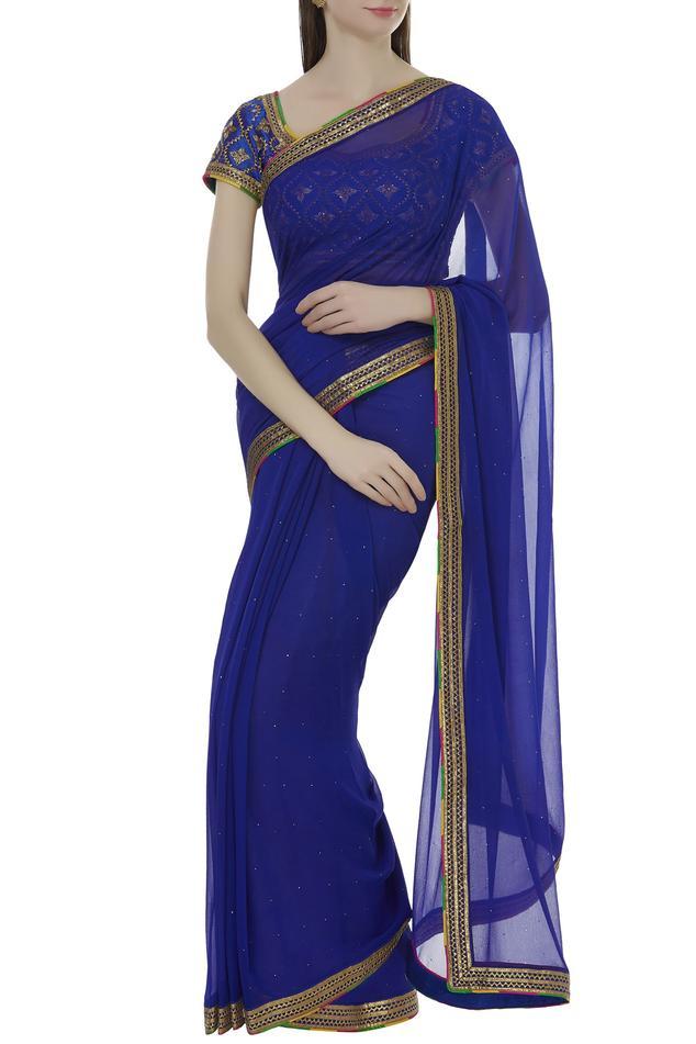 Hand embroidered saree set