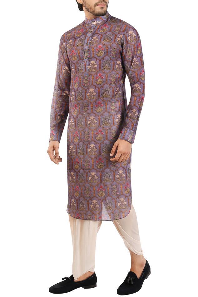 Chanderi cotton silk printed kurta
