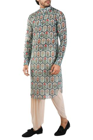 Chanderi cotton silk printed kurta