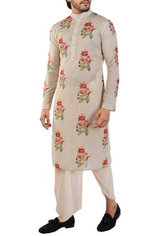 Printed kurta with side pockets