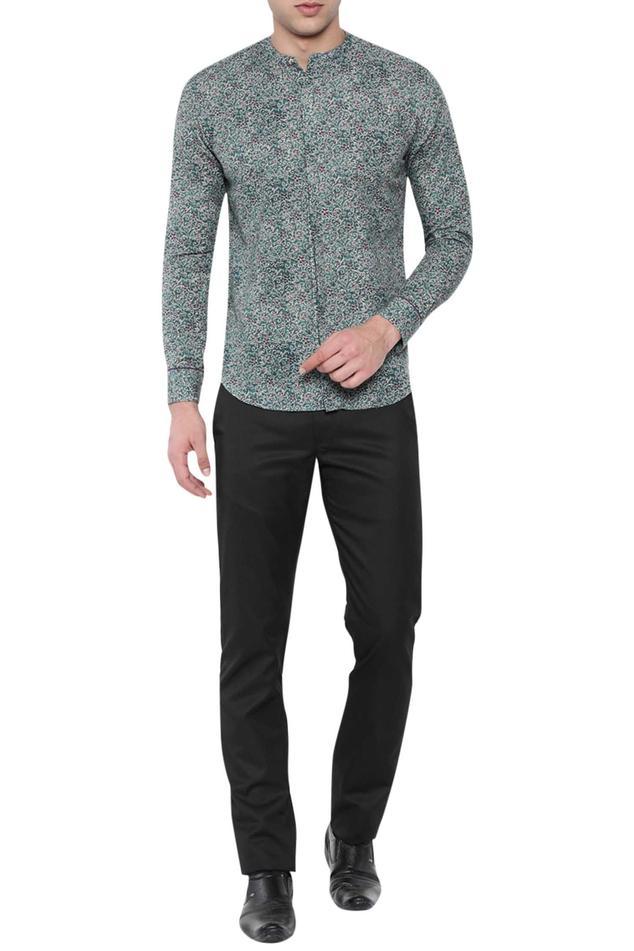 Linen Printed Slim Fit Shirt