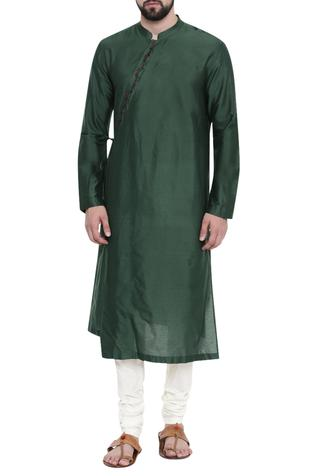 Mandarin collar kurta set