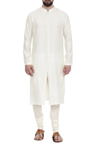 Silk Jaquard Kurta & Churidar Set
