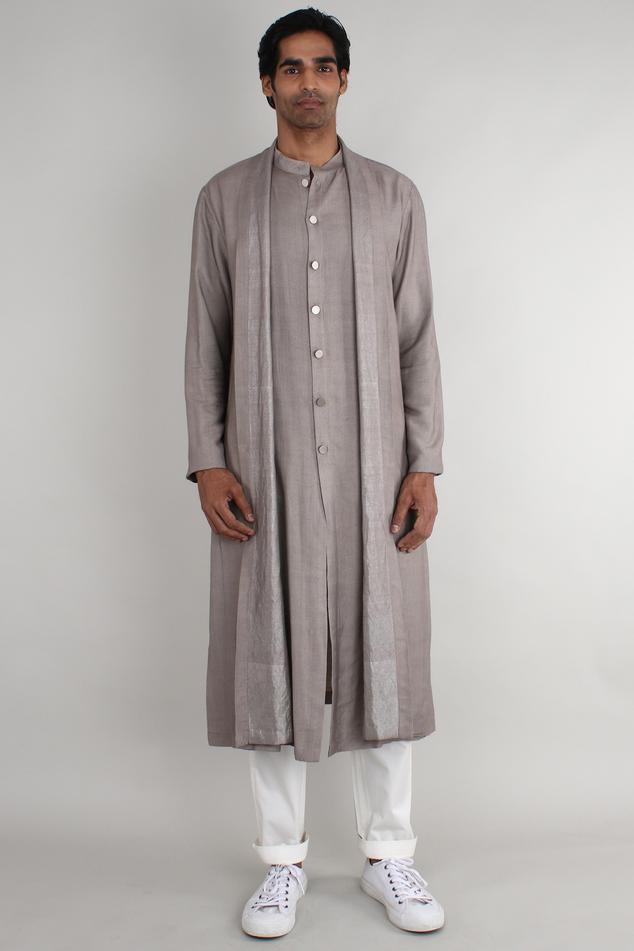 Silk Overlay long kurta
